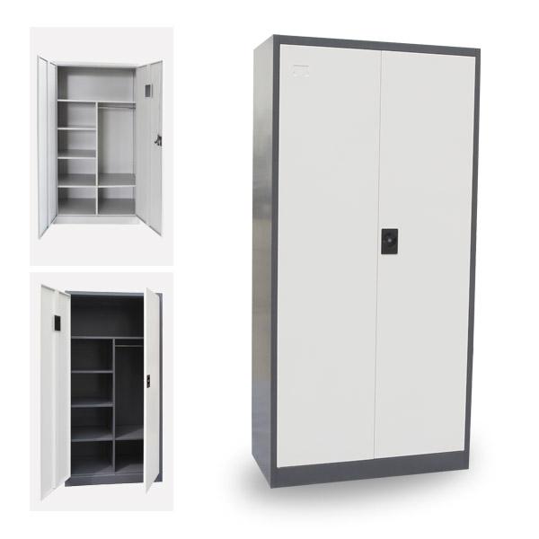 Muebles para el hogar de metal puerta 2 taquillas/casilleros armario ...