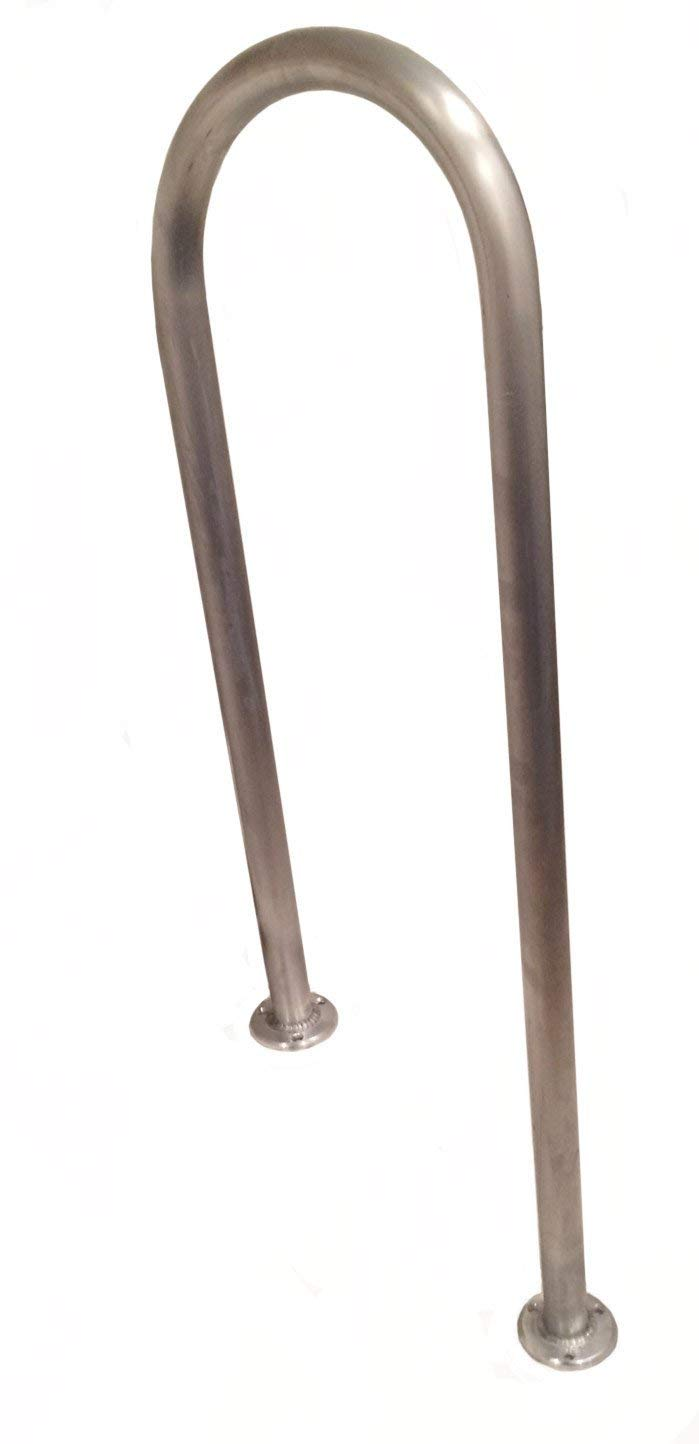 B52 Anodized Handrail Aluminum Stairs Kit Stainless Steel Look 13 Ft and 1.6 diameter