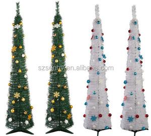 Pop Up Christmas Tree.Pre Lit Folded Decorative Pop Up Christmas Tree With Lights