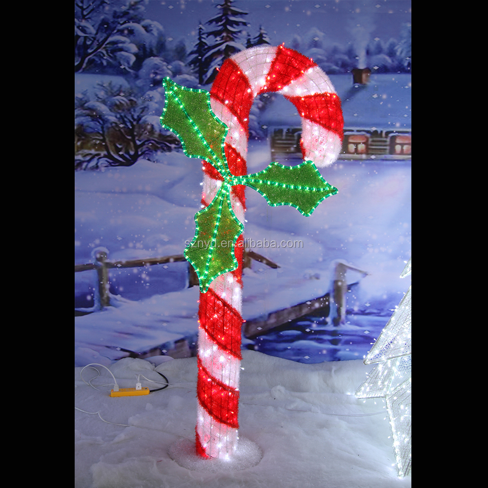 New arrival christmas decoration lighted candy canes buy for Purchase christmas decorations