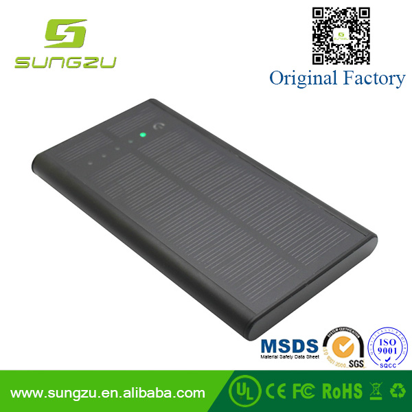 Alluminium alloy shell touch Solar power bank with fast charging