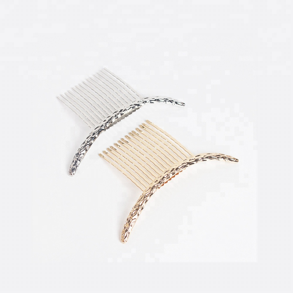 Wire Metal Gold Hair Comb Clip Black Hair comb wholesale