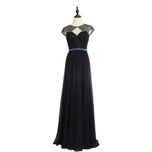 2019 Chaozhou Factory Elegant Beaded Women Sexy Mermaid Black Evening Dress