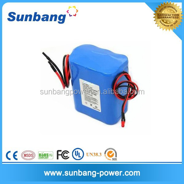 customized 18650 12 v 5000 mah lithium battery for led torch flashlight