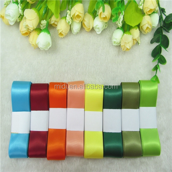 8pieces one set packing Wholesale 100% polyester double faced satin ribbon
