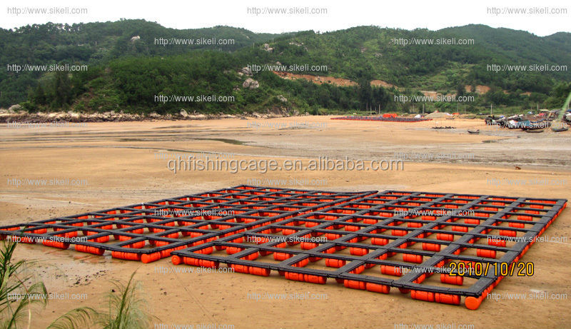 HDPE floating fish cages farms in lakes