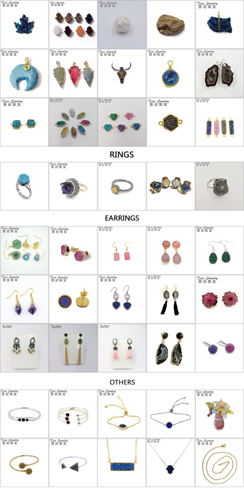 도매 합쳐진 Gemstone 눈물 Shape Fashion Jewellery Earring Newest 긴 Drop Earrings 대 한 Girls