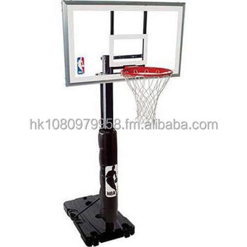 new products 609a8 f8cdf Promo Sales Spalding Nba 68395r Tragbarer Basketballkorb Mit  54-zoll-polycarbonat-rückwand - Buy Basketballkorb Product on Alibaba.com