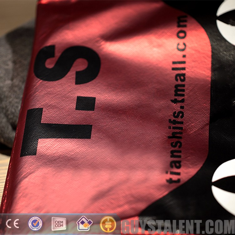 Custom printed private brand name logo hdpe plastic garment shopping bag