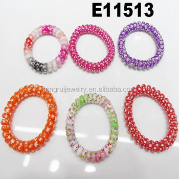Plastic Spiral Telephone Cord Hair Accessories Wire Band Line Tie