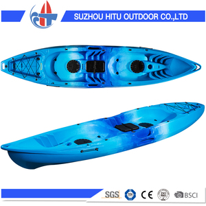 CE certificate no inflatable fish kayak double sit on top kayak