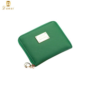 RFID Blocking Thin Zipper Women's euro coin sorter wallet