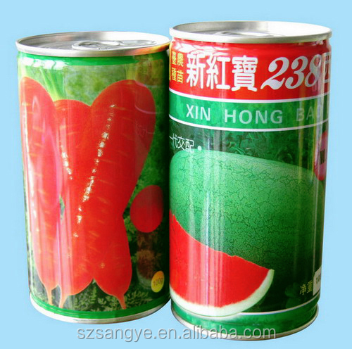 watermelon seed in Tin can,cherry tomato seed,Fruit seed tin can