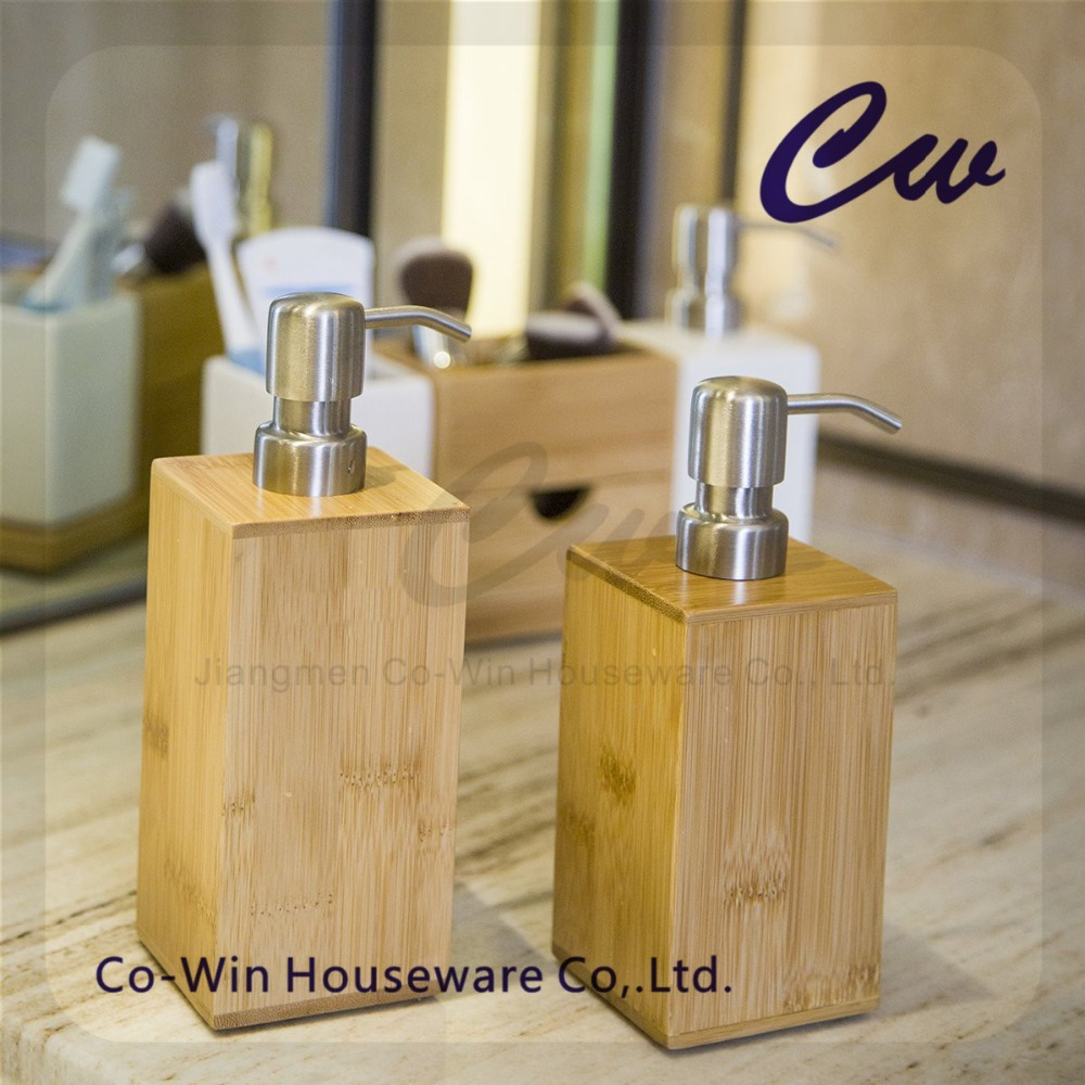Wooden Bamboo Bathroom Soap Dispenser Wood Bamboo Soap Dispenser