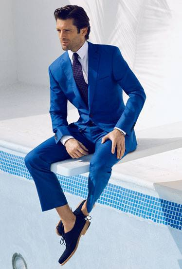 Slim Fit Casual Navy Blue Coat Pant Men Suit For Party In This ...