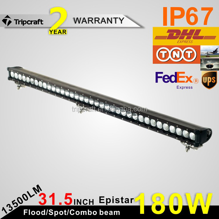 Promotion 4X4 accessories led truck light 12v 24v led light auto parts 180w 30 inch single row led light bar