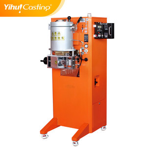 Continous die casting machine used to make gold or silver sheet wire or rod