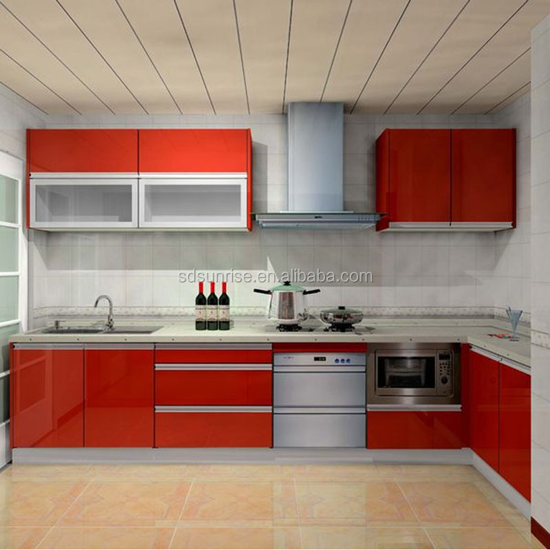 New Fashion Laminated Mdf Kitchen Cabinets Design For You Buy High