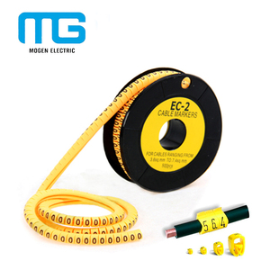 EC Type plastic cable marker tube anti corrosion pvc cable markers