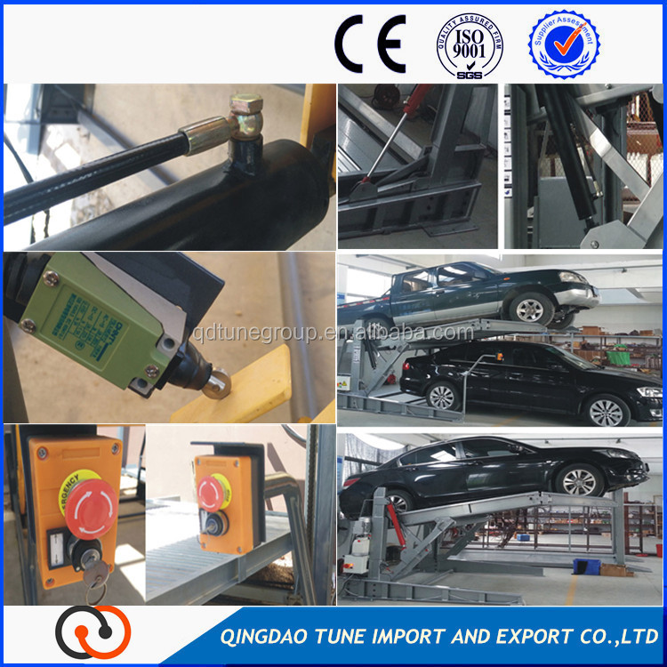 high quality hydraulic drive 2 post family car parking lifts