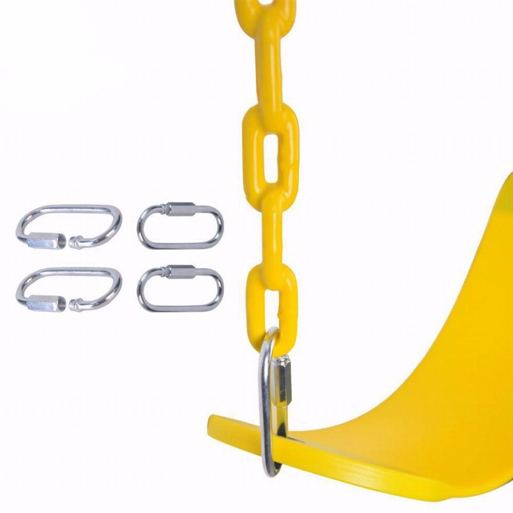 a994e5699 De los niños al aire libre solo asiento con recubrimiento de plástico cadena