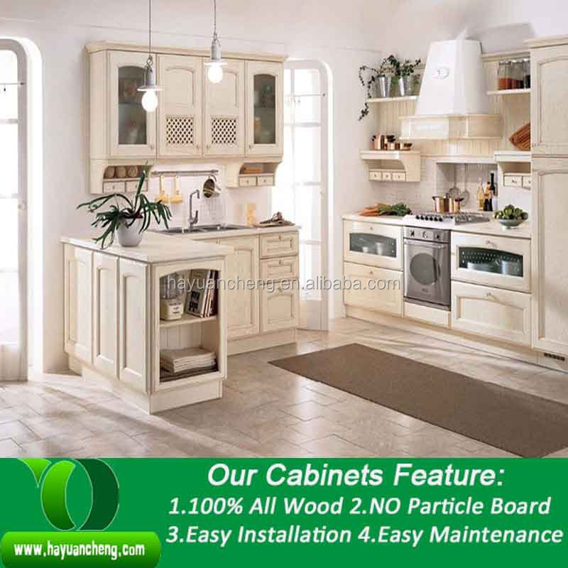 Cheap Unfinished Wood Kitchen Cabinets: Yuancheng Solid Wood Kitchen Cabinet For Wholesale