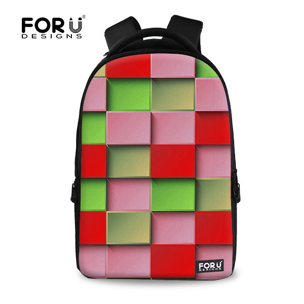 FOR U DESIGN Geometric Custom Canvas Backpack Looking Branded Bagpack for Women