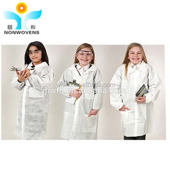 Kinder Einweg-kittel/pp Disposablel Labor/reinraum Labor Kleid - Buy ...