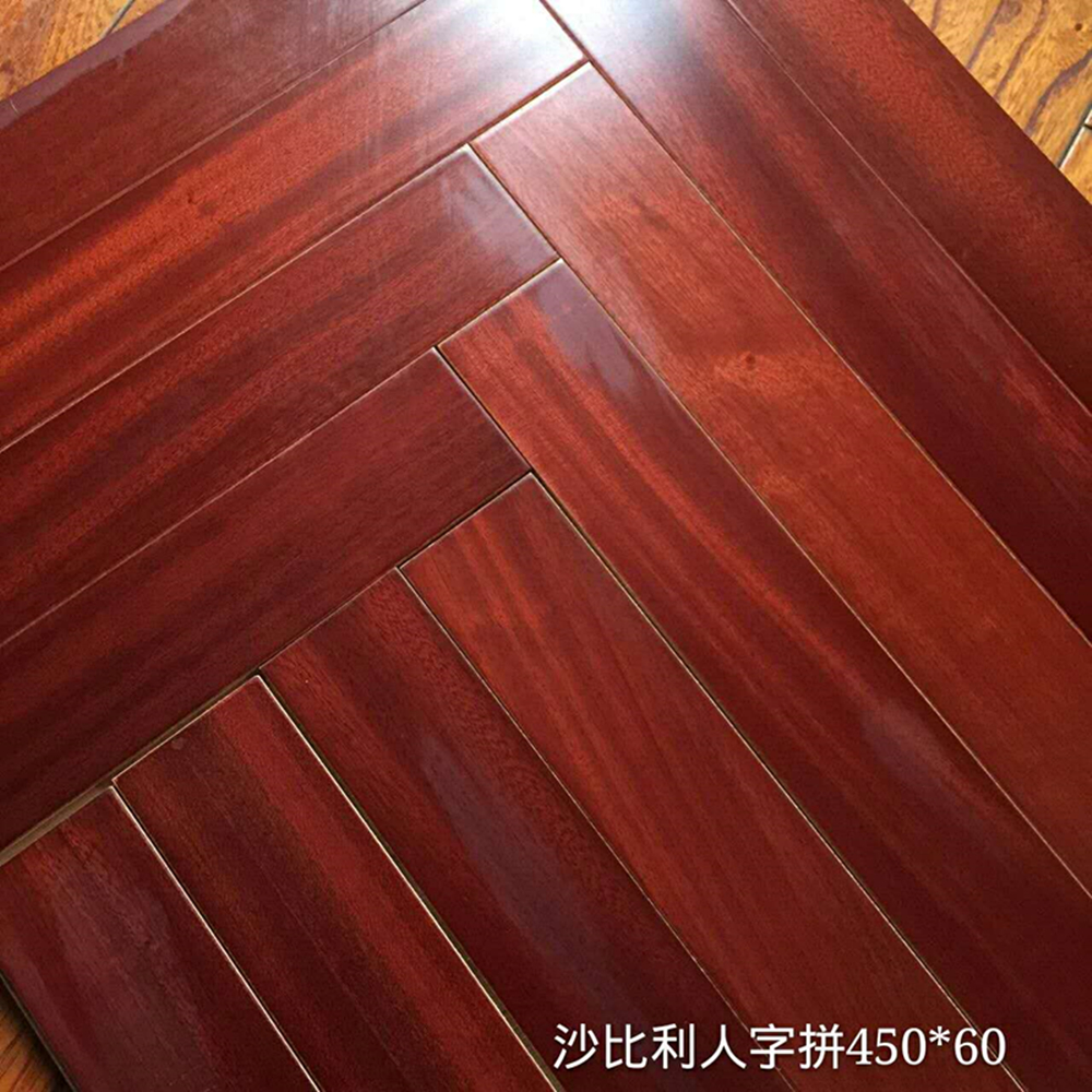 Realistic Surface Texture Engineered Herringbone Wood Flooring