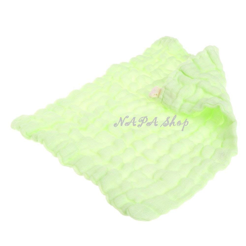 NAPA Shop Green Soft Cotton Baby Handkerchief Infant KidsTowel Newborn Baby Washcloth Baby Child Feeding Wipe Cloth