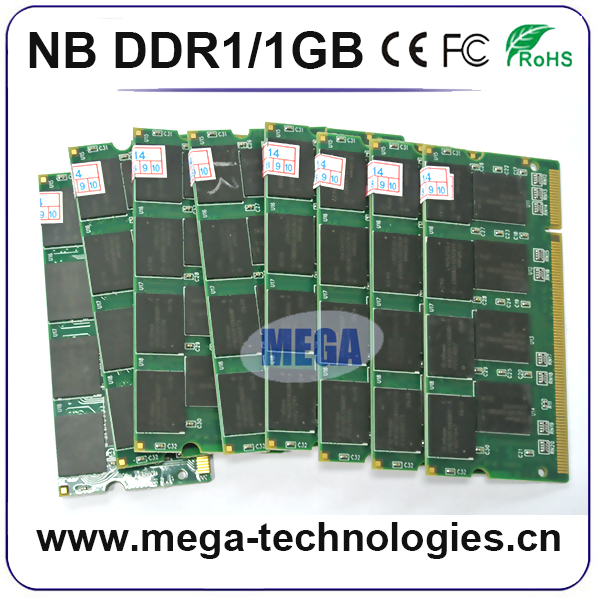 notebook/laptop ram 667mhz 800mhz 2gb ddr1 ddr2 ddr3 sodimm