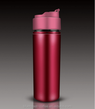 c35451bb6a2 Portable Coffee Mug French Coffee Press With Unique Design Thermos ...