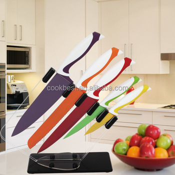 5pcs Charming Colorful Kitchen Knife Set Non-stick Kitchen Knives Set  D-a051 - Buy Kitchen Knife Set,Knives,Knife Set Product on Alibaba.com