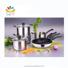 12pcs stainless steel sandwich bottom parini kitchenware stainless steel cookware set