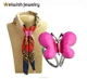 New Fashion Women Butterfly Painted Scarf Clips Brooch Gift