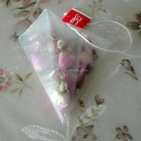 Top quality 5.5x7cm heatsealable triangular nylon mesh bags for tea leaf