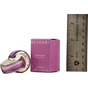 BVLGARI OMNIA AMETHYSTE by Bvlgari for WOMEN: EDT .17 OZ MINI (note* minis approximately 1-2 inches in height)