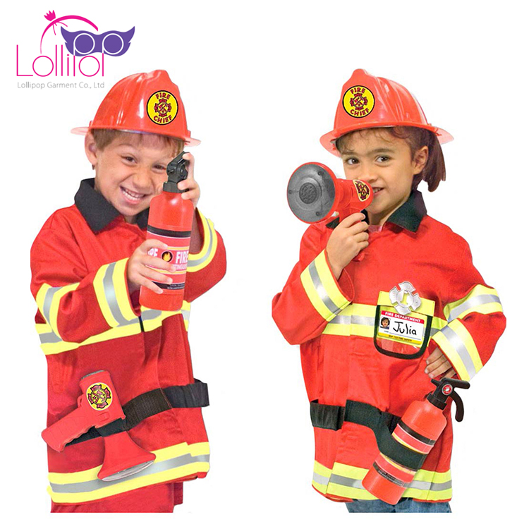 Halloween carnival kids fireman costume halloween role play costumes
