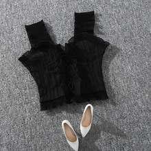 Женский топ без рукавов с оборками, на шнуровке, на бретельках, с открытыми плечами, укороченный, женские майки, топы 2020, летние, сексуальные, ...(Китай)