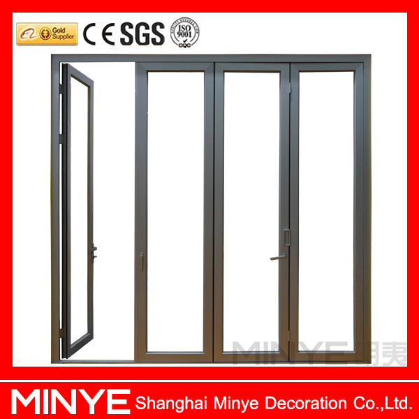 China Supplier Aluminum Glass Doors Bathroom Folding Door/glass ...
