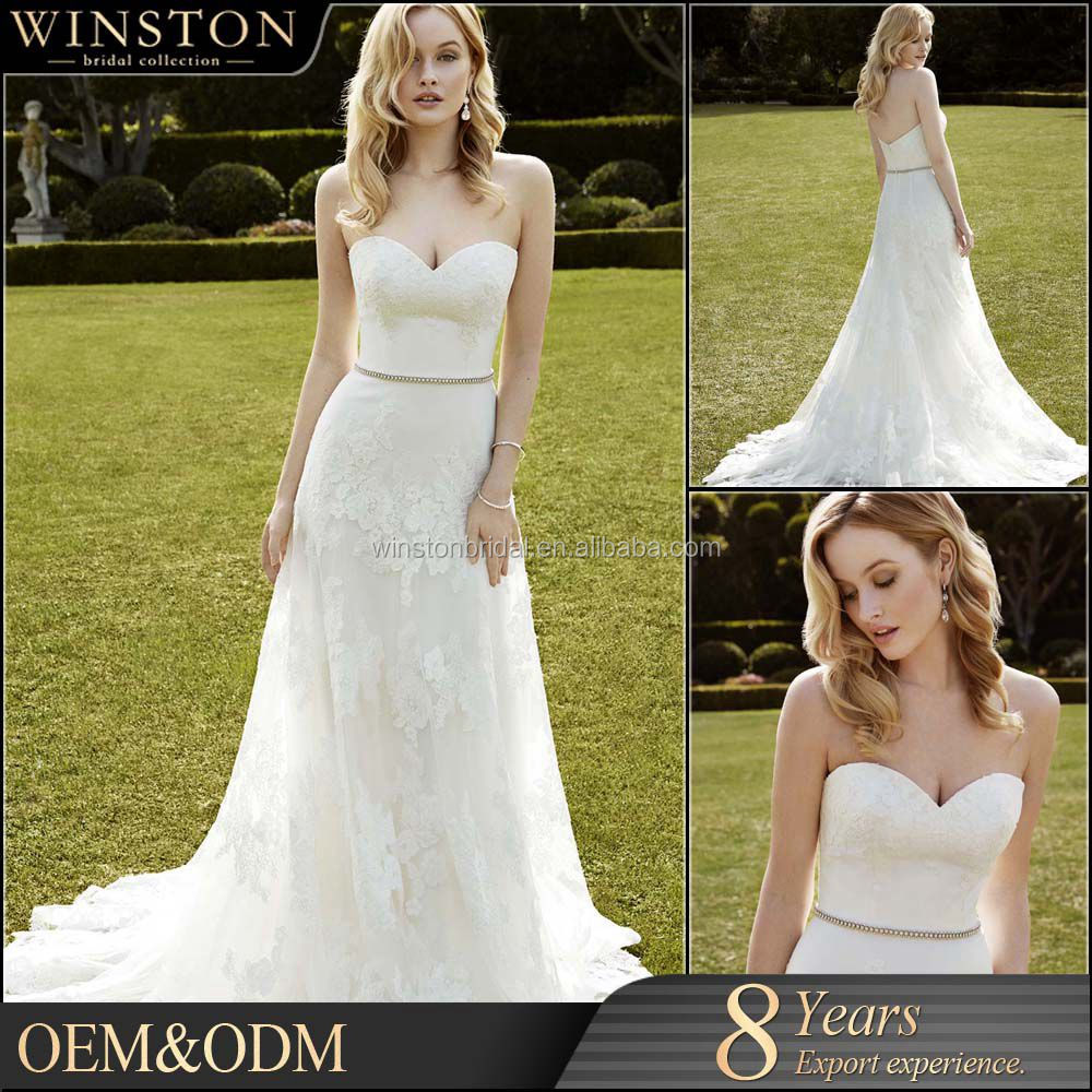 Hot China supplier fit and flare wedding dress