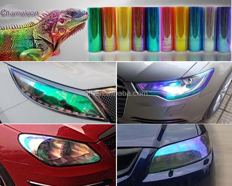 Led Lampen Folie : Chameleon scheinwerfer aufkleber led beleuchtung reflektierende