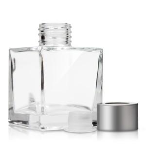custom made glass perfume bottle crystal square perfume glass bottle