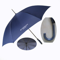 strong stainless steel holder custom logo print givenchy straight umbrella with manufacturer price