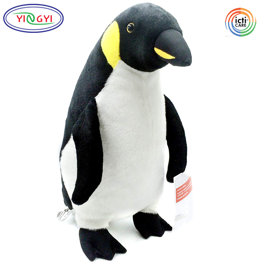 D984 Large Penguin Plush Animal Stuffed Toy Soft Fabric Baby Safety