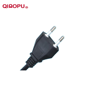 Qiaopu Ac Iataly Power Cord Extension Socket Imq Certificate 2 Pin Italy Plug