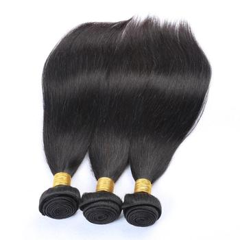 Top quality 10a grade hair 16 18 20 inch straight human hair weave brazilian unprocessed straight hair