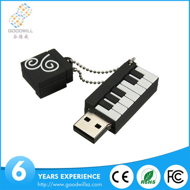 Manufacturer supply good quality piano shape usb flash drive 32gb