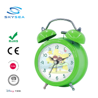 Table desk two Bell Ring Alarm Clock, Metal Digital Clock, Cartoon Clock for Kids
