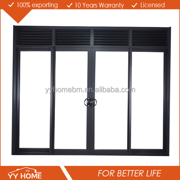 New product shopping mall used aluminium commercial sliding glass doors